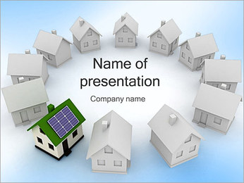 Home Alternative Energy PowerPoint Template
