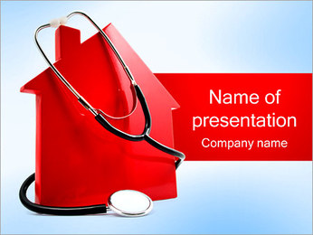 Stethoscope and House PowerPoint Template