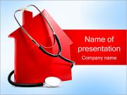 Stethoscope and House PowerPoint Templates
