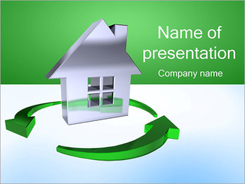 Recycling House PowerPoint Template