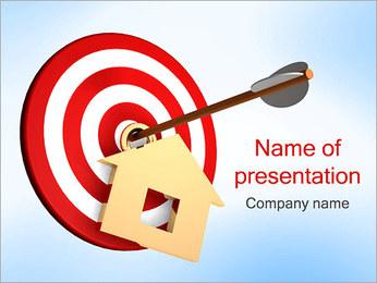 Casa en Target Plantillas de Presentaciones PowerPoint