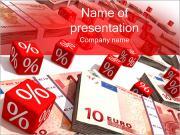 Euro e Percentagens Modelos de apresentações PowerPoint