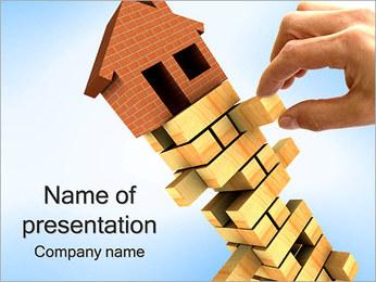 Riesgo y Casa Plantillas de Presentaciones PowerPoint