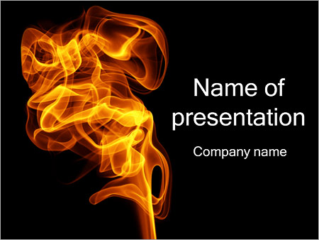 Fire Smoke PowerPoint Template