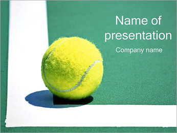 TENNISBOLL PowerPoint presentationsmallar