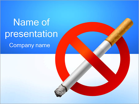 No Smoking Powerpoint Template Backgrounds Google Slides Id