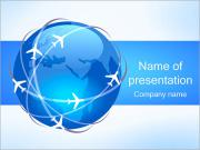 Airplane Lines PowerPoint Template