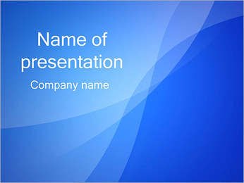 Blue Waves Дизайн Шаблоны презентаций PowerPoint