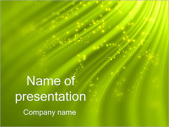 Green Waves PowerPoint Template