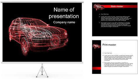 Modèle de voiture Modèles des présentations  PowerPoint