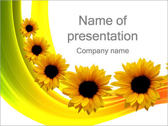 Beautiful Sunflowers PowerPoint Template