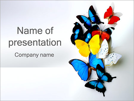 Insect powerpoint template smiletemplates free download butterflies powerpoint templates toneelgroepblik Gallery