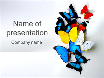 Butterflies PowerPoint Template