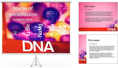 ADN tableau périodique et Modèles des présentations  PowerPoint