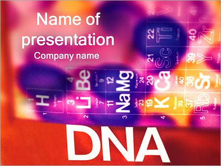dna and periodic table powerpoint template & backgrounds id, Modern powerpoint