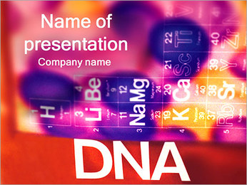 DNA a Periodic Table PowerPoint šablony