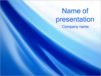 Abstract Blue Wave PowerPoint presentationsmallar