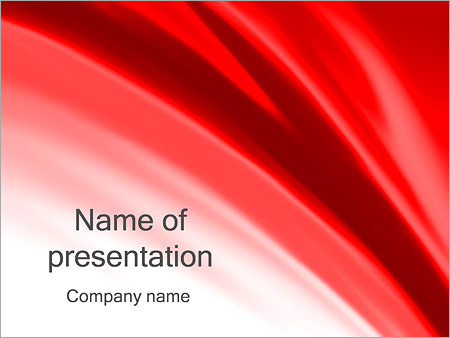 Red Wave PowerPoint Template