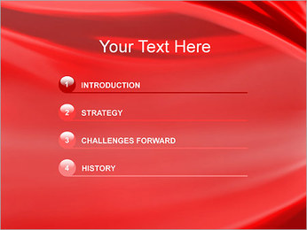 Red Wave PowerPoint Template - Slide 3