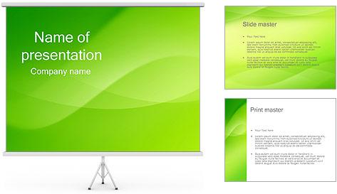 Green Wave Modèles des présentations  PowerPoint