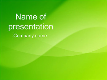 Green Wave PowerPoint presentationsmallar