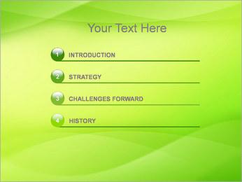 Green Wave Modèles des présentations  PowerPoint - Diapositives 3