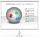 Globe Puzzle PPT Diagrams & Chart