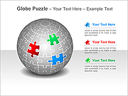 Globe Puzzle PPT Diagrams & Charts