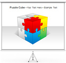 Puzzle Cube PPT Diagrams & Chart
