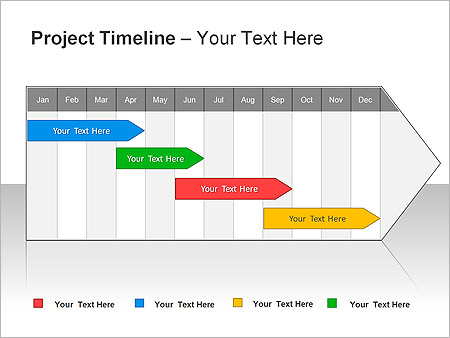 Project Timeline PPT Diagrams Chart