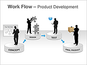 Work Flow PPT Diagrams & Chart
