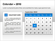 Calendar 2010 PPT Diagrams & Charts