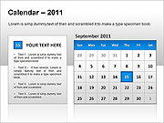 Calendar 2011 PPT Diagrams & Chart