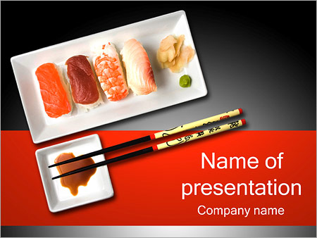 Japanese Sushi Powerpoint Template Backgrounds Google Slides Id