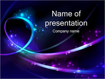Abstract Lights Шаблоны презентаций PowerPoint