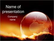 Прозрачный глобус Шаблоны презентаций PowerPoint