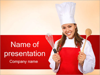 Cook Woman PowerPoint Template