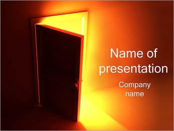 Exit PowerPoint Template