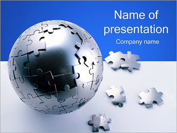 Jigsaw Globe PowerPoint Template