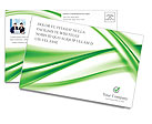 Green Abstract Waves Postcard Templates