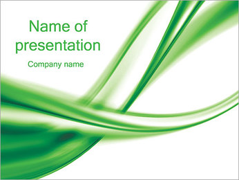 Green Abstract Waves PowerPoint Template