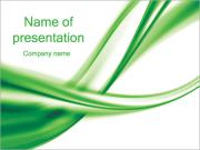 Green Abstract Waves PowerPoint Templates