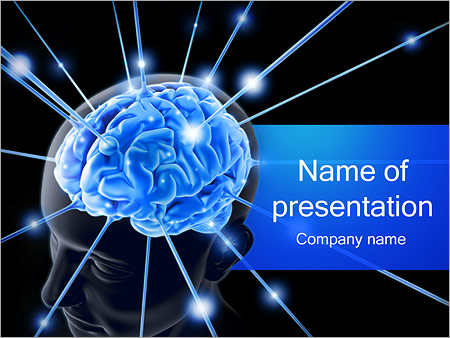 Human Brain Nerves Powerpoint Template & Backgrounds Id 0000001832