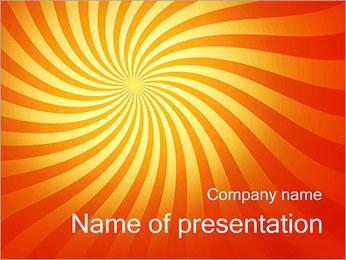 Orange Twirl PowerPoint Template
