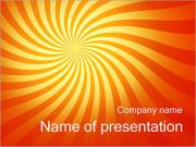 Orange Twirl PowerPoint Templates
