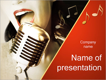 Retro Music Powerpoint Template Backgrounds Google Slides Id
