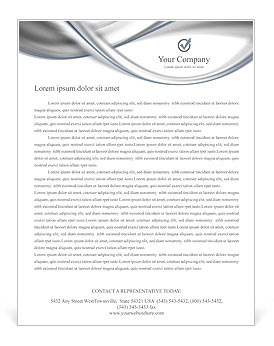 Silver Abstract Waves Letterhead Template
