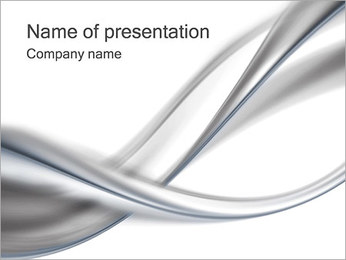 Silver Abstract Waves PowerPoint Template