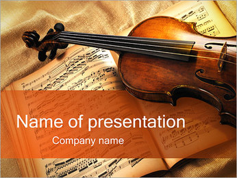 Violin and Music Sheet PowerPoint Template