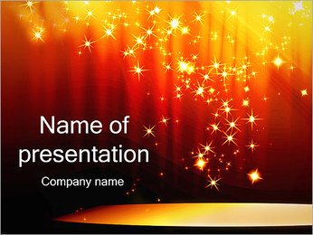 Orange Lights PowerPoint Template